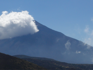 Gebirge, Wolken, Himmel