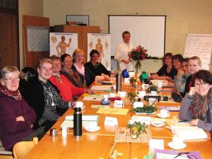 gruppe, essen, tisch, treffen